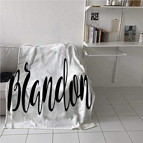 Flannel Blanket Throw Brandon Air Conditioner Blanket Widespread Name Pattern for Bed Couch and Living Room 70x84 Inch