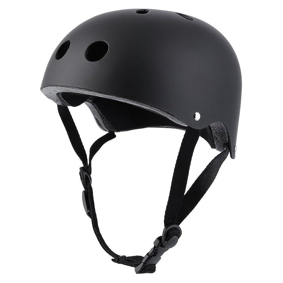 モジュールのぞき見ホールドオールヘルメット マルチスポーツヘルメット プロテクター スケボー 自転車 防具 子供用 男の子 子供用 大人用 ブッラク Sサイズ