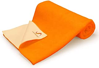 Quickdry Mattress Protector, Bed Protector, Reusable, Washable, Dry Sheet for Kids, Infant, Toddler and Adults - Orange, S...