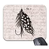 Vintage 1800S Angling Fly Fishing Flies Lures Lure Mouse Pads Stylish Office Accessories(9 x 7.5inch)