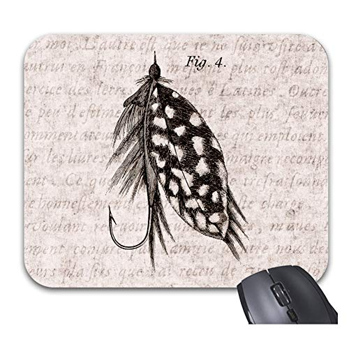Vintage 1800S Angling Fly Fishing Flies Lures Lure Mouse Pads Stylish Office Accessories9 x 75inch