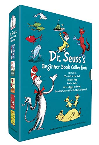 [{Seuss}] Dr. Seuss's Beginner Book Collection (Cat in The Hat, One Fish Two Fish, Green Eggs and Ham, Hop on Pop, Fox in Socks)- Hardcover