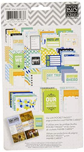 Me & My Big Ideas Papel Bolsillo páginas Tarjetas de temática 7,6x 10,2cm, 7-Travel