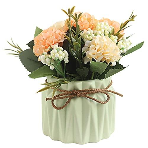 Kpcxdp ácaros nórdicos Flor de Moda Plantas en Maceta Fallo de imitación Floral Planta Floral Bonsai Escritorio Adorno Muebles
