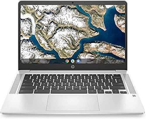 HP Chromebook 14 pulgadas HD no táctil Intel Pentium Silver N5030 procesador cuádruple núcleo, 4 GB de RAM, 64 GB eMMC, WiFi,...