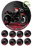 Tortenaufleger Motorrad Geburtstag,Tortendeko