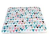 6歳までの寝具図鑑こどものふとん 寝返りマットレス ベビープレイマット 120×120cm キルトパッド付 (フラッグ)