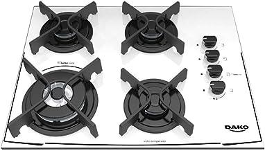 Cooktop Dako 4 bocas branco com acendimento superautomático - Bivolt