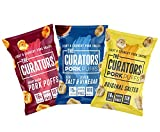 THE CURATORS Pork Puffs - Variety Pack, 22g (12 Packs) - High Protein Low Carb Keto Savoury Snacks with Crunch, Salt & Vinegar, Original Salted & Smoky Bacon