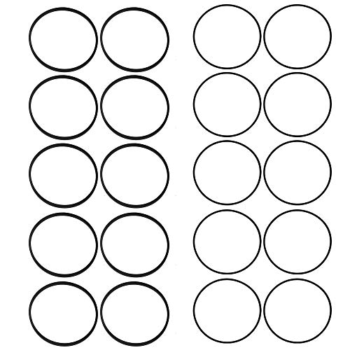 Mengxiang 10pcs 1/16' Thick 693981 280492 with 10pcs 1/26' Thick 799871 799866 Float Bowl Gasket for 796707 794304 790845 084132 084133 084232 084332 084333 091412 796707 794304 790845 126M02 Engines