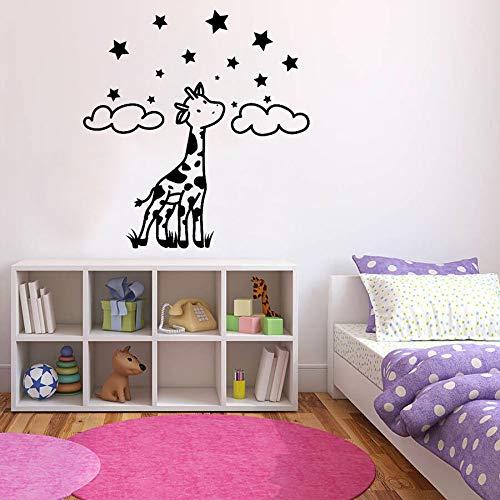 mlpnko Jirafa Pared calcomanía Estrella Animal de Dibujos Animados niño Dormitorio decoración Vinilo Pegatina Papel Pintado 68X70cm