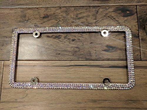 Genuine Swarovski License Plate Frame - Crystal AB -  Sparkle Couture by Chloe