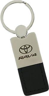 Au-Tomotive Gold, INC. Leather Key Ring for Toyota RAV4 (Black)