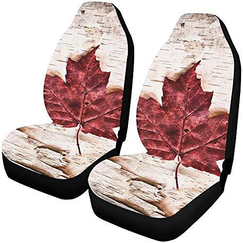 Enoqunt SUV-stoelhoezen Het beeld van de vlag van Canada-ontworpen hele autostoelhoezen Protector stoelhoezen
