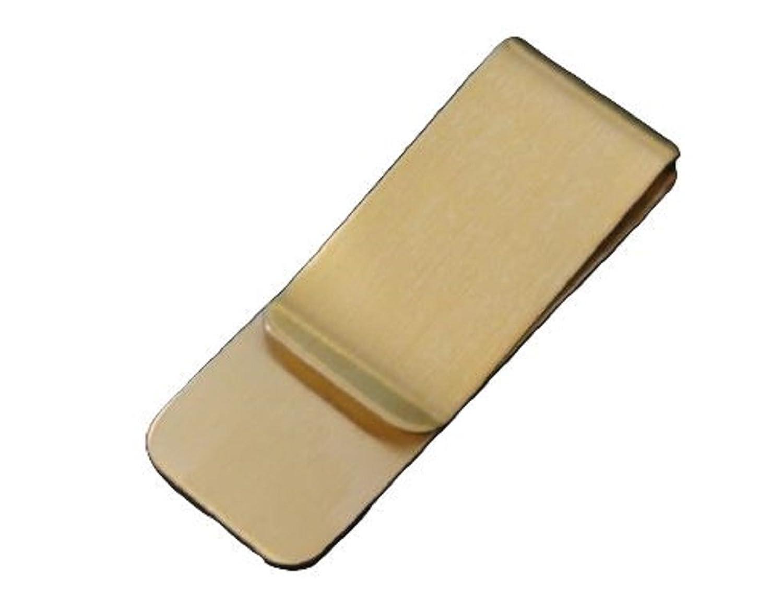 【アウトレット】マネークリップ シンプル ゴールドメタルミラー プレーンタイプ  スマートペーパークリップ カードクリップ お財布いらず お札はさみ トラベルグッズ 旅行や出張などに! ゴールドカラー