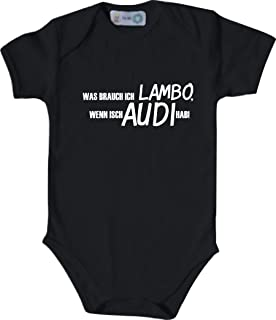 Unbekannt Lustiger Baby Body mit Druck/was Brauch Ich Lambo, Wenn Isch Audi Hab! / Viele Farben/Größen von 50 bis 92