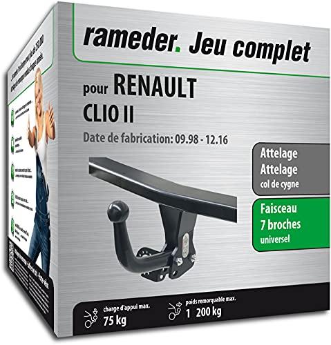 Rameder Pack, attelage démontable avec Outil + Faisceau 7 Broches Compatible avec Renault Clio II (152434-03508-1-FR).