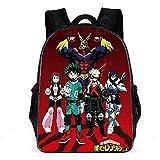 My Hero Academia Mochila My Hero Mochilas escolares para niños Mochila escolar de anime de dibujos animados para niños Estudiantes de primaria y secundaria