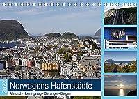 Norwegens Hafenstaedte - Alesund - Honningsvag - Geiranger - Bergen (Tischkalender 2022 DIN A5 quer): Die Route von Hamburg zum Nordkap ist sehr beliebt bei Kreuzfahrern! (Monatskalender, 14 Seiten )