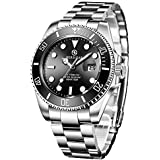 BERSIGAR Men's Analogue Water Resistant Automatic Watch with Stainless Steel Strap