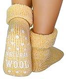 dunaro 1 Paar ABS Anti Rutsch Socken Wollsocken Stoppersocken Noppensocken Damen und Herren (1 Paar / 39-42 gelb)
