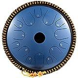 tamburo a lingua in acciaio 14 note strumento a percussione a mano da 14 pollici strumento a percussione a forma di piatto tamburo a percussione manuale lingue in acciaio con mazze, borsa