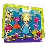 Mattel DWC83 - Polly Pocket Mode Set Polly mit Kleid türkis - Puppe Polly mit insgesamt 3 Outfits +...