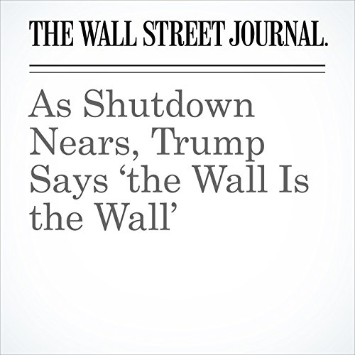 As Shutdown Nears, Trump Says 'the Wall Is the Wall' copertina