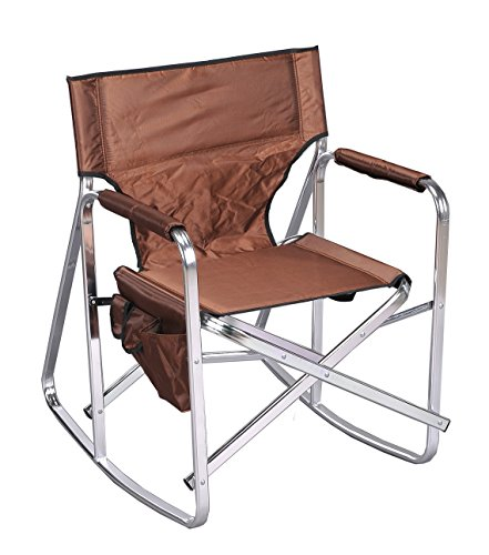 Stylish Camping SL1205BROWN Rocking Full Back Folding Director's Chair