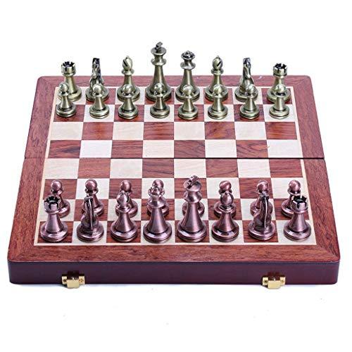 Juego de ajedrez Juego de ajedrez de Madera con Interior de Tablero de Fieltro para Almacenamiento, Excelentes Juguetes para Juegos de Mesa de cumpleaños (Color: B)