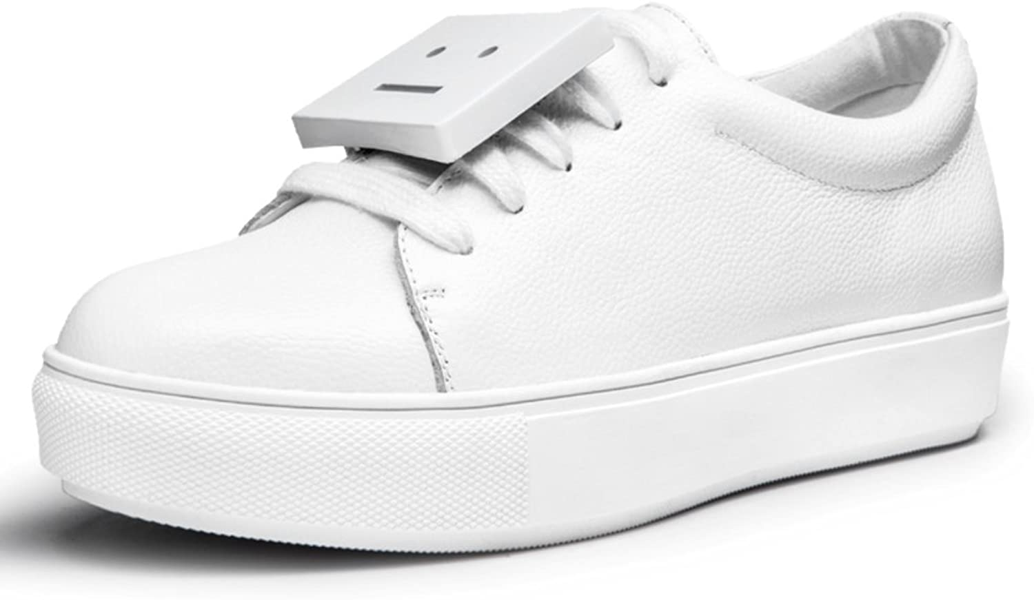 WLJSLLZYQ Spring Fashion Casual shoes Smiling at The end of shoes Thick-Soled Sneakers