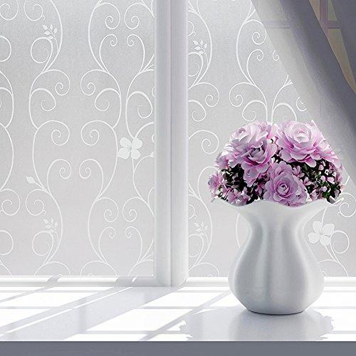 Vinilo autoadhesivo para ventana, privacidad, esmerilado, pegatinas de cristal decorativas para ventanas de casa o apartamento. 60*200cm blanco