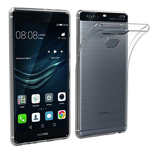 Simpeak Hülle Kompatibel mit Huawei P9 Plus [2 Pcs], Schutzhülle Kompatibel für Huawei P9 Plus Silikon Transparent