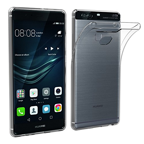 Simpeak Funda Compatible con Huawei P9 Plus (Pack of 2), Funda Transparente Compatible con Huawei P9 Plus Carcasa Compatible con Huawei P9 Plus Silicona TPU Case
