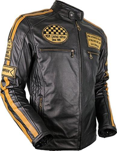Motorrad Retro Lederjacke aus echtem Leder (L) - 4