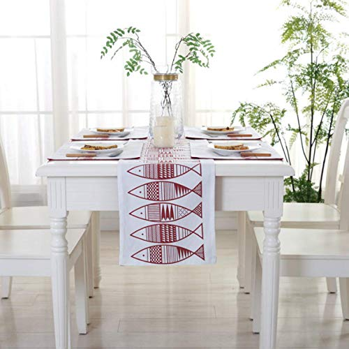 Generico Retro Flower Embroidery Table Runner, Home Dinner Table Table Runner, Coffee Table, Long Wooden Table, Dustproof Decoration Of Drawer 30x148cm