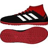adidas Predator Tango 18.3 TF J, Zapatillas de Fútbol Unisex Adulto, Negro (Cblack/Ftwwht/Red Cblack/Ftwwht/Red), 38 EU
