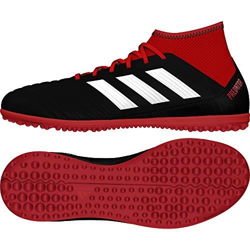 adidas Predator Tango 18.3 TF J, Zapatillas de Fútbol Unisex Niños, Negro (Cblack/Ftwwht/Red Cblack/Ftwwht/Red), 33 EU