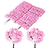 BUONDAC 144pcs 2,5cm Rose Artificielle en Mousse Tete Faux Fleur Artificielle Plante Decoration pour...