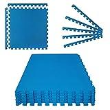 Montafox Tapis de Piscine Tapis de Base Épais Set de 8 Bleu 60 x 60 x 1 cm Éléments de Sol Dalle Mouse Piscine Spa Exterieur