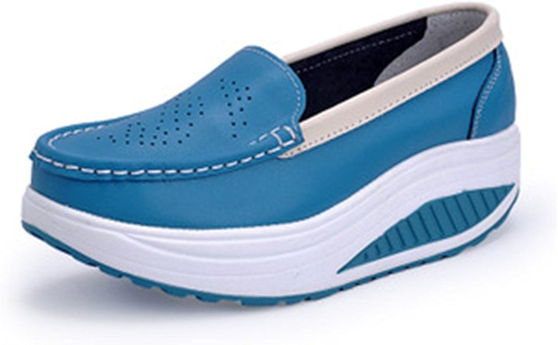 FUN.S Women Casual shoes Walking Creepers Fashion Waterproof Wedges Platform Woman Sneakers shoes