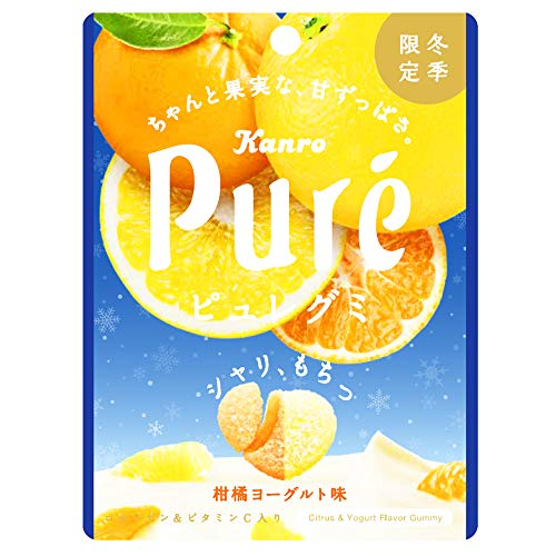 カンロ ピュレグミ柑橘ヨーグルト 56g ×6個