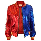 Cosplay Jacket for the Film Character Costumes Coat with Zipper of Adults Tops Red and Blue S-L (Small)