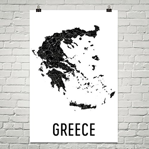 Griekenland Kaart, Kaart van Griekenland, Griekenland Print, Griekse Kunst, Griekenland Muur Art, Griekse Geschenken, Grieks Decor, Griekenland Kaartprent, Griekse Kaart, Griekenland Eilanden