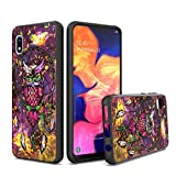 UNC Pro Cell Phone Case for Samsung Galaxy A10E, Owl Dreamcatcher Gold Foil Embedded Dual Layer Hybrid Case, Shockproof Bumper Anti-Scratch Protective Case Cover
