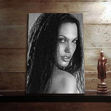 ANGELINA JOLIE - Original Art Print (A4 - Signed by the Artist) #js012