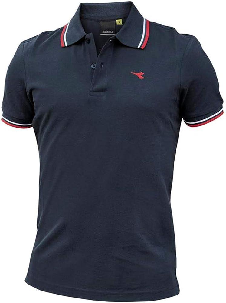 Diadora ss polo , maglietta maniche corte per uomo , 100% cotone 102.177175A