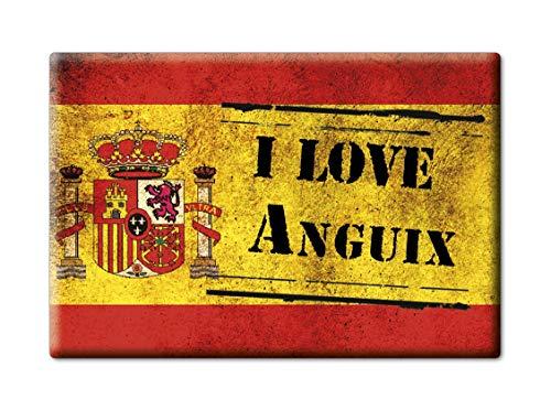 Enjoymagnets ANGUIX Souvenir IMANES DE Nevera Reino Unido Castilla Y LEÓN IMAN Fridge Magnet Corazon I Love (VAR. Veteran)