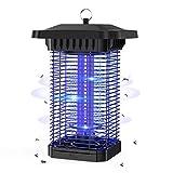 Aerb Lámpara Antimosquitos Eléctrico, LED Mosquito Lámpara Trampa, 18W de Luz UV, 4000V Potencia de Alto Voltaje, Matar Mosquitos, Moscas, Polillas, para hogar