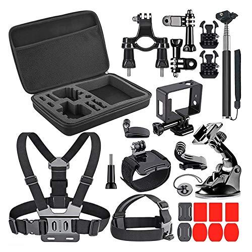 27PCS Kit Complet d'Accessoires Compatible avec GOPRO Sports Action Caméra pour Plongée Surfriding Vélo Saut à l'Eau Sport Nautique